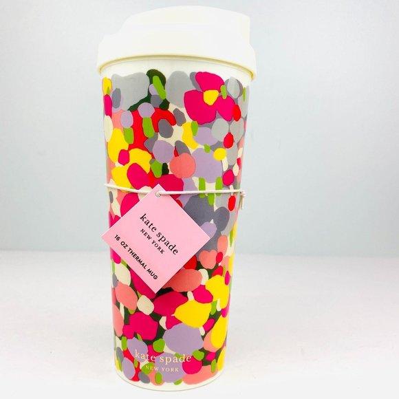 KATE SPADE Floral Dot Thermal Mug 16oz NWT